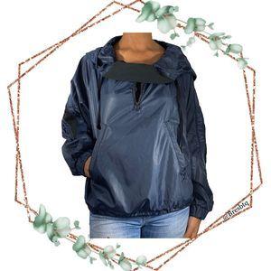 Ivy Park Wetlook Pullover Jacket in Rainstorm S